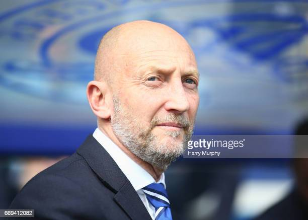 Manager of Queens Park Rangers Ian Holloway looks on prior to the Sky Bet Championship match between Queens Park Rangers and Sheffield Wednesday at...