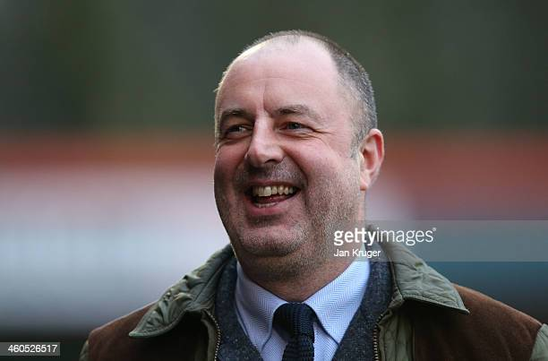 Manager of Rochdale AFC Keith Hill looks on during the Budweiser FA Cup third round match between Rochdale and Leeds United at Spotland Stadium on...