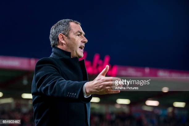 Manager of Swansea City Paul Clement looks on during the Premier League match between AFC Bournemouth and Swansea City at Vitality Stadium on March...