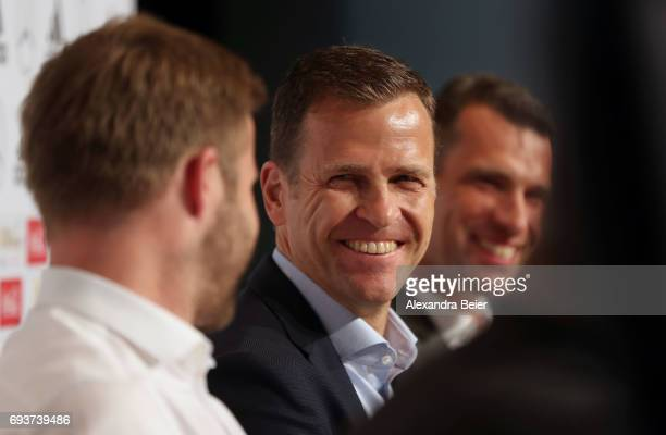 Manager of the German national soccer team Oliver Bierhoff CEO of German Sporthilfe foundation Michael Ilgner and former German hockey national team...