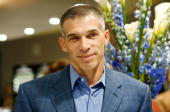 Manager of the New York Yankees Joe Girardi attends Manfredi Jewels launch of the NOA New York Yankees Joe Girardi Timepiece at Manfredi Jewels on...