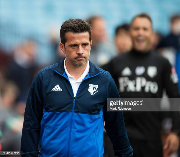 Manager of Watford Marco Silva during the pre season friendly match between Aston Villa and Watford at Villa Park on July 29 2017 in Birmingham...