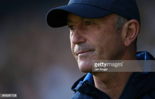 Manager of West Bromwich Albion Tony Pulis during the Premier League match between West Bromwich Albion and Stoke City at The Hawthorns on August 27...