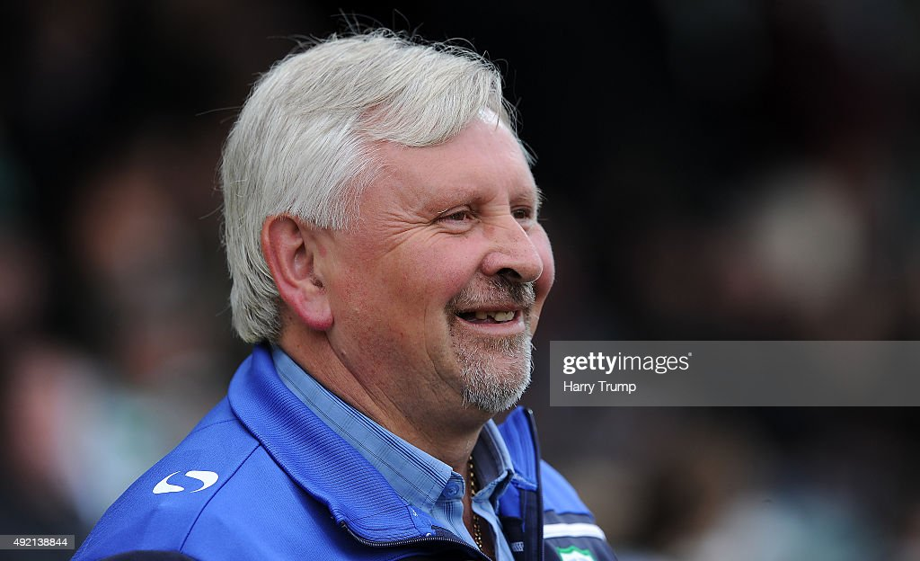 Manager of Yeovil Town Paul Sturrock looks on during the Sky Bet League Two match between Yeovil Town and Dagenham Redbridge at Huish Park on October...