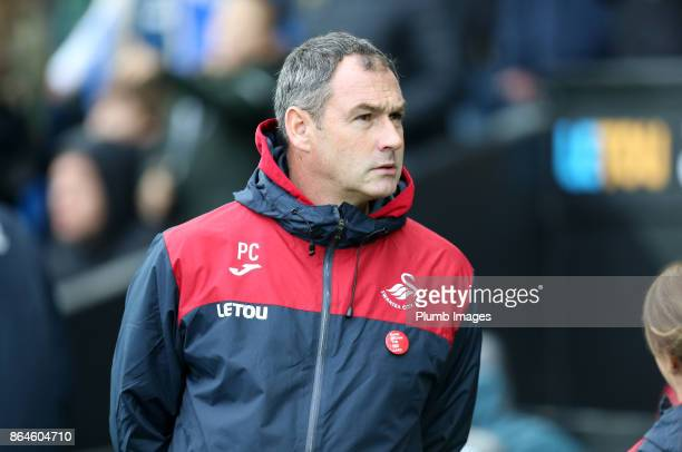 Manager Paul Clement of Swansea City at Liberty Stadium ahead of the Premier League match between Swansea City and Leicester City at Liberty Stadium...