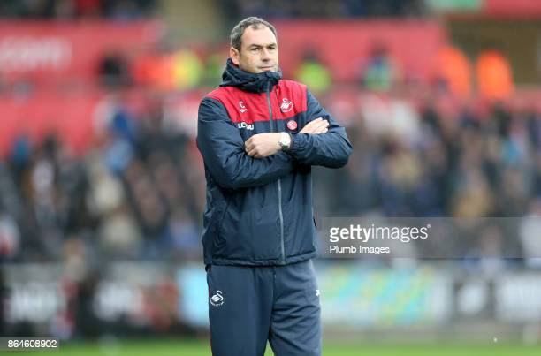 Manager Paul Clement of Swansea City during the Premier League match between Swansea City and Leicester City at Liberty Stadium on October 21st 2017...