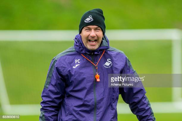 Manager Paul Clement smiles during the Swansea City training session at The Fairwood training Ground on February 03 2017 in Swansea Wales