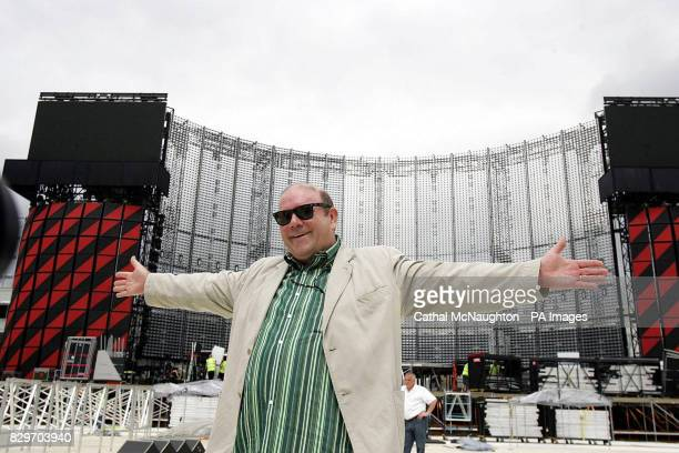 U2 manager Paul McGuinness inspects proceedings as the finishing touches are made to the stage ahead of Irish U2's three night run The Irish leg of...