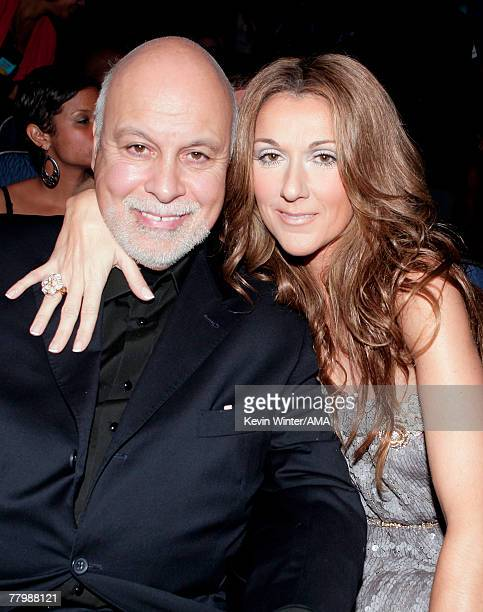 Manager Rene Angelil and Singer Celine Dion in the audience during the 2007 American Music Awards held at the Nokia Theatre LA LIVE on November 18...