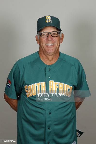 Manager Rick Magnante of Team South Africa poses for a head shot for the World Baseball Classic Qualifier at Roger Dean Stadium on September 17 2012...