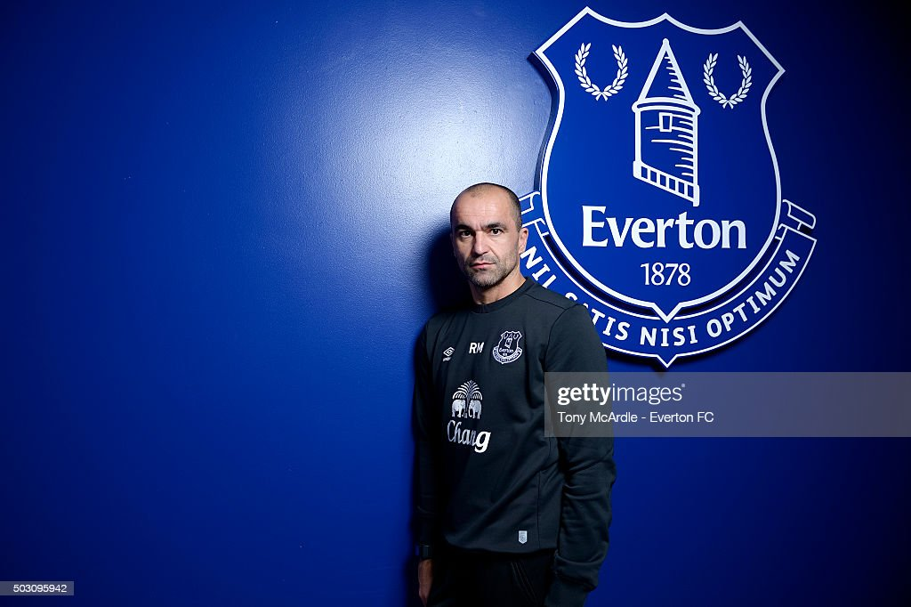 Manager Roberto Martinez of Everton FC poses during a photo shoot at Finch Farm on January 01, 2016 in Halewood, England.