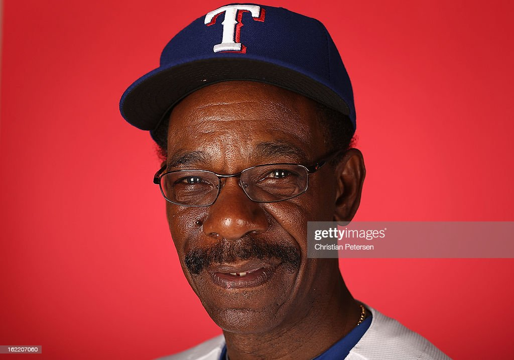 Manager Ron Washington #38 of the Texas Rangers poses for a portrait during spring training photo day at Surprise Stadium on February 20, 2013 in Surprise, Arizona.