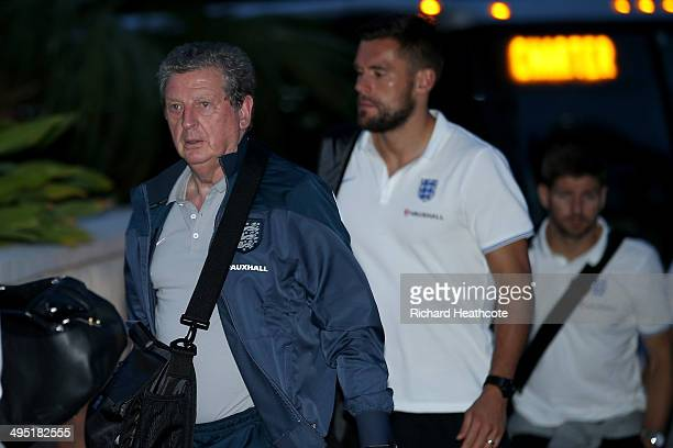 Manager Roy Hodgson of the England national football team arrives at the Mandarin Oriental Hotel on June 1 2014 in Miami Florida The England team are...