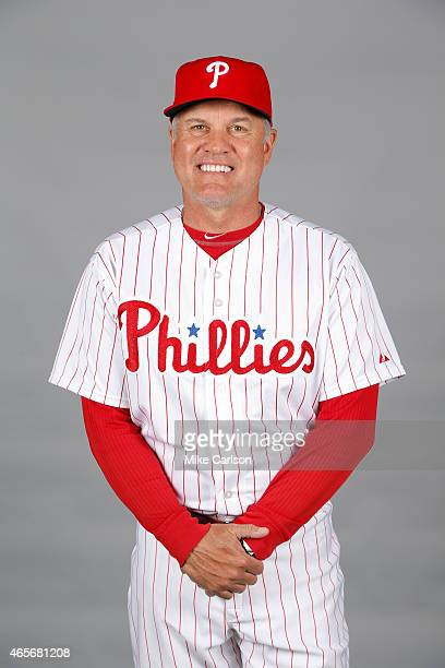 Manager Ryne Sandberg of the Philadelphia Phillies poses during Photo Day on Friday February 27 2015 at Bright House Field in Clearwater Florida
