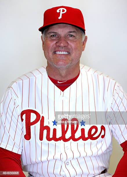 Manager Ryne Sandberg of the Philadelphia Phillies poses for a portrait during photo day at Brighthouse Stadium on February 27 2015 in Clearwater...