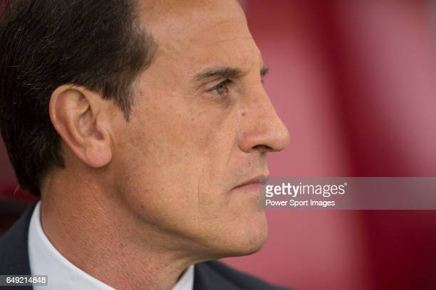 Manager Salvador Gonzalez Voro of Valencia CF before the match Atletico de Madrid vs Valencia CF a La Liga match at the Estadio Vicente Calderon on...