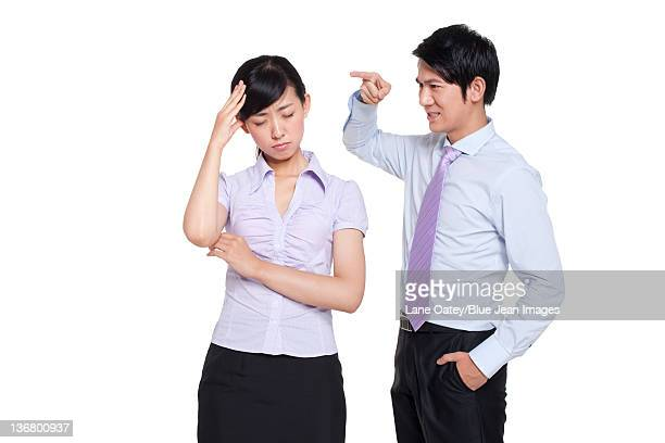Manager Scolding Employee