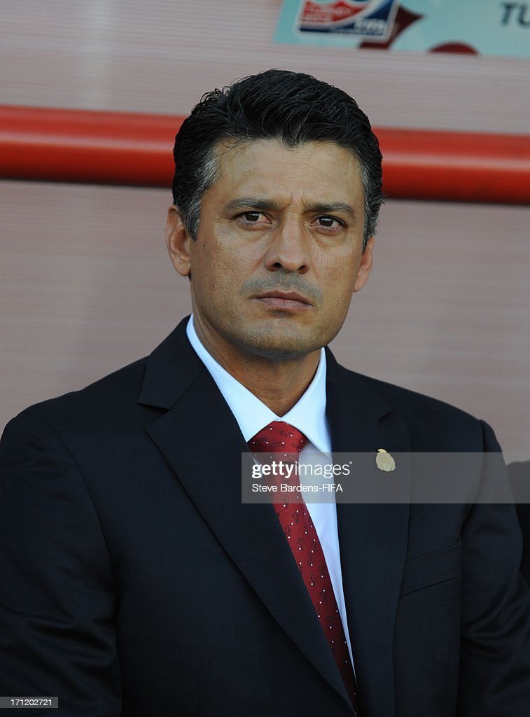Manager Sergio Almageur of Mexico before the FIFA U20 World Cup Group D match between Mexico and Greece at Kamil Ocak Stadium on June 22, 2013 in Gaziantep, Turkey.