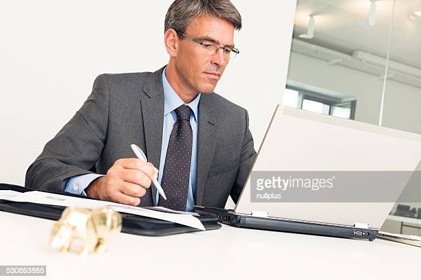 manager sitting at his desk