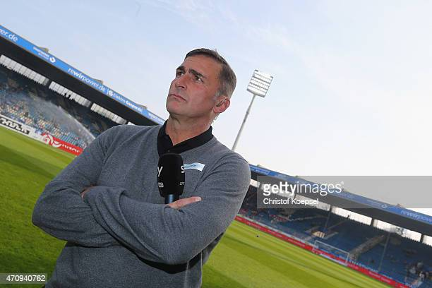 Manager Stefan Kuntz of Kaiserslautern looks on prior to the Second Bundesliga match between VfL Bochum and 1 FC Kaiserslautern at Rewirpower Stadium...