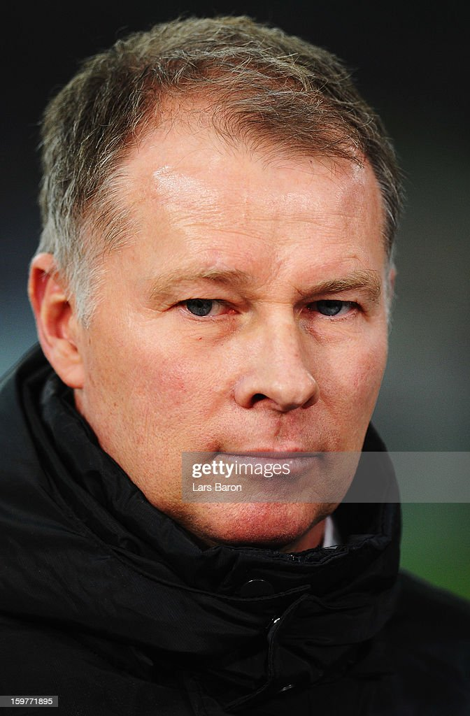 Manager <a gi-track='captionPersonalityLinkClicked' href=/galleries/search?phrase=Stefan+Reuter&family=editorial&specificpeople=667372 ng-click='$event.stopPropagation()'>Stefan Reuter</a> of Augsburg looks on during the Bundesliga match between Fortuna Duesseldorf 1895 and FC Augsburg at Esprit-Arena on January 20, 2013 in Duesseldorf, Germany.