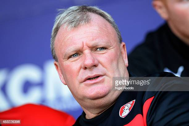 Manager Steve Evans of Rotherham United during the Pre Season Friendly match between Rotherham United and Leicester City at The New York Stadium on...