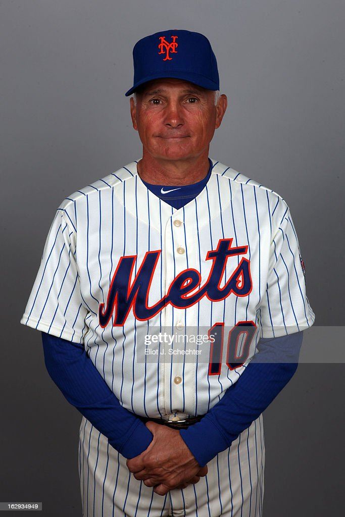Manager <a gi-track='captionPersonalityLinkClicked' href=/galleries/search?phrase=Terry+Collins&family=editorial&specificpeople=2593404 ng-click='$event.stopPropagation()'>Terry Collins</a> #10 of the New York Mets poses during Photo Day on February 21, 2013 at Mets Stadium in Port St. Lucie, Florida.