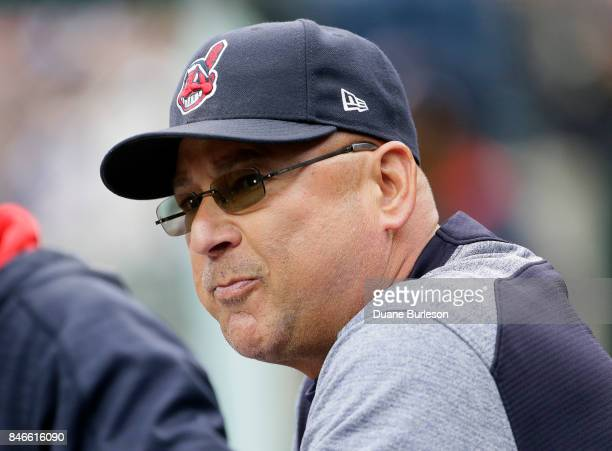 Manager Terry Francona of the Cleveland Indians during a game against the Detroit Tigers at Comerica Park on September 2 2017 in Detroit Michigan