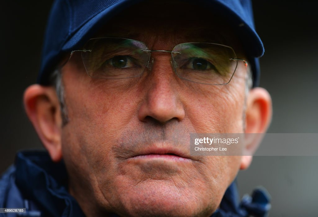 Manager <a gi-track='captionPersonalityLinkClicked' href=/galleries/search?phrase=Tony+Pulis&family=editorial&specificpeople=2225291 ng-click='$event.stopPropagation()'>Tony Pulis</a> of Crystal Palace looks on during the Barclays Premier League match between Fulham and Crystal Palace at Craven Cottage on May 11, 2014 in London, England.