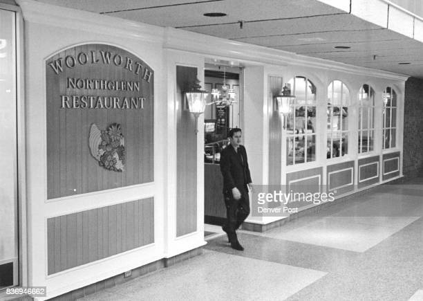 Manager Visits Business in the Mall Don Mayes manager of the Northglenn Mall walks out of the Woolworth Northglenn Restaurant after conference with...