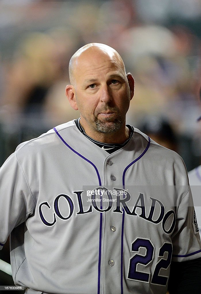 Manager <a gi-track='captionPersonalityLinkClicked' href=/galleries/search?phrase=Walt+Weiss&family=editorial&specificpeople=239045 ng-click='$event.stopPropagation()'>Walt Weiss</a> #22 of the Colorado Rockies walks through the dugout prior to the game against against the Arizona Diamondbacks at Chase Field on April 26, 2013 in Phoenix, Arizona. The Rockies defeated the Diamondbacks 6-3.