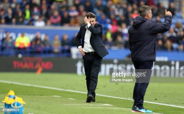 Manager Walter Mazzarri of Watford at King Power Stadium during of the Premier League match between Leicester City and Watford at King Power Stadium...