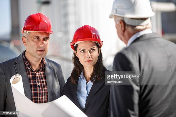 Managers at industrial facility