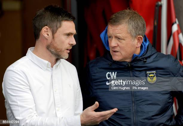 Managers Graham Alexander Fleetwood Town and Chris Wilder Oxford United