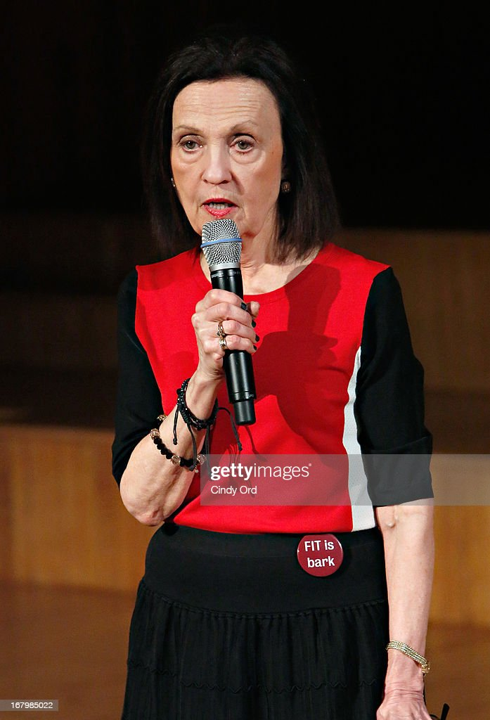 Managing Coordinator of FIT Center for Professional Studies School of Continuing and Professional Studies, Joan Volpe speaks during FIT's Fifth Annual Pet Apparel and Accessories Fashion Show at The Fashion Institute of Technology on May 3, 2013 in New York City.