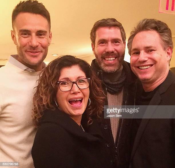 Managing Director at B_B Italia Mattia Crippa Missy Basile Rocco Basile and Jason Binn circa March 2016 in New York City