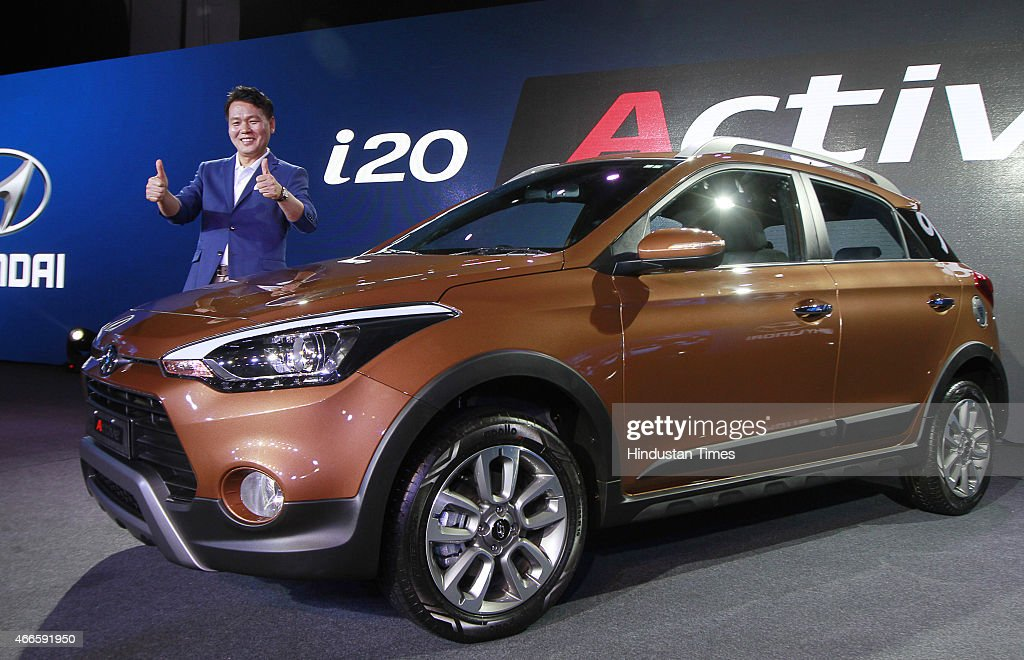 hyundai i20 active launch getty images. Black Bedroom Furniture Sets. Home Design Ideas
