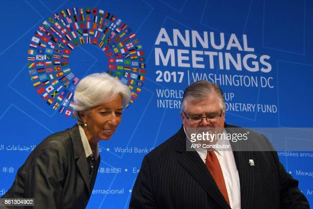 IMF Managing director Christine Lagarde and Governor of the Bank of Mexico and Chairman of the International Monetary and Financial Committee Agustin...