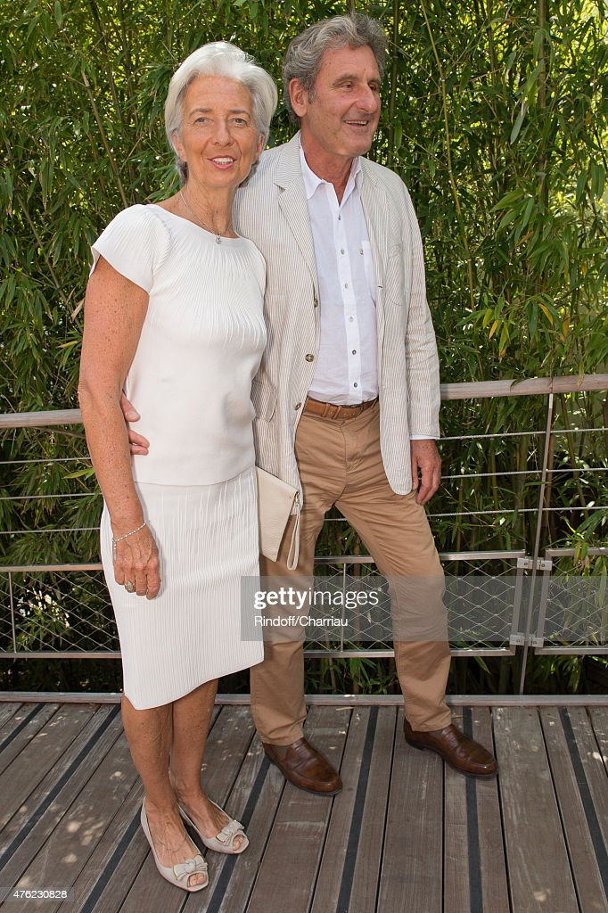 Managing Director Christine Lagarde and her husband Xavier Giocanti attend the Men Final of 2015 Roland Garros French Tennis Open - Day Fithteen, on June 7, 2015 in Paris, France