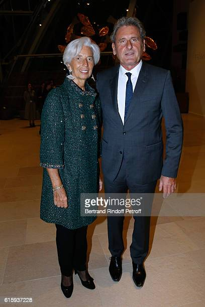 Managing Director Christine Lagarde and her husband Xavier Giocanti attend the 'Icones de l'Art Moderne La Collection Chtchoukine' Cocktail at...