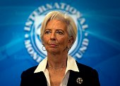 IMF Managing Director Christine Lagarde smiles during a press conference at the International Monetary Fund in Washington DC on February 19 2016...