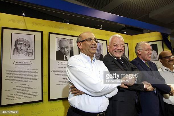 Managing Director DMRC Mangu Singh with Sweden Ambassador to India H E Harald Sandberg Norwegian Ambassador to India HE Eivind S Homme and others...