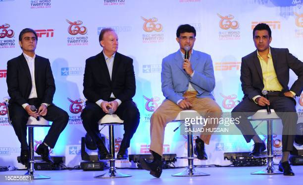 Managing director ESPN software Indian Pvt Ltd Aloke Malik ICC general managercommercial Campbell Jamieson and former Indian cricketers and...