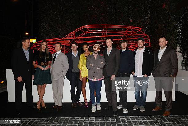 Managing Director for Land Rover Phil Popham TV personality Louise Roe Land Rover design director Gerry McGovern actor Miles Fisher singer Solange...