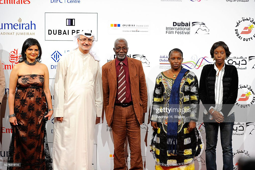 Managing Director of DIFF Shivani Pandya, Artistic Director of DIFF Masoud Amralla Al Ali, <a gi-track='captionPersonalityLinkClicked' href=/galleries/search?phrase=Souleymane+Cisse&family=editorial&specificpeople=606860 ng-click='$event.stopPropagation()'>Souleymane Cisse</a> and guests attend the 'Cairo Exit' premiere during day five of the 7th Annual Dubai International Film Festival held at the Madinat Jumeriah Complex on December 16, 2010 in Dubai, United Arab Emirates.