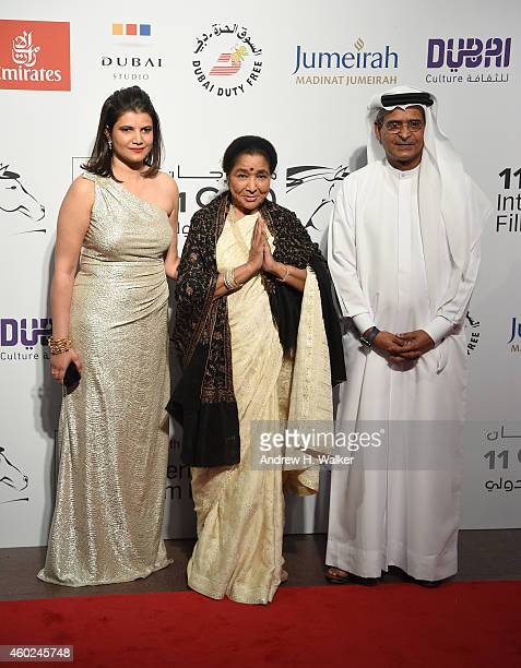 Managing Director of DIFF Shivani Pandya Asha Bhosle and DIFF Chairman Abdulhamid Juma attends the Opening Night Gala during day one of the 11th...