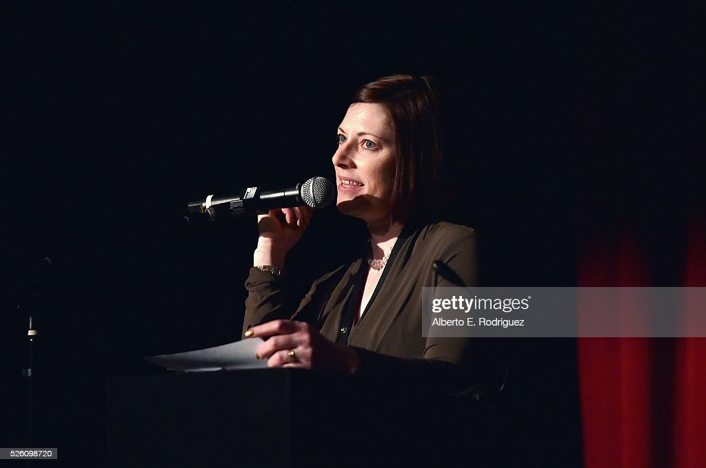 Managing Director of TCM Classic Film Festival Genevieve McGillicuddy speaks onstage during 'Lassie Come Home' during day 2 of the TCM Classic Film Festival 2016 on April 29, 2016 in Los Angeles, California. 25826_006