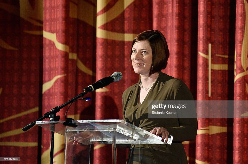Managing Director of TCM Classic Film Festival Genevieve McGillicuddy speaks onstage during 'The Conversation' screening during day 2 of the TCM Classic Film Festival 2016 on April 29, 2016 in Los Angeles, California. 25826_005