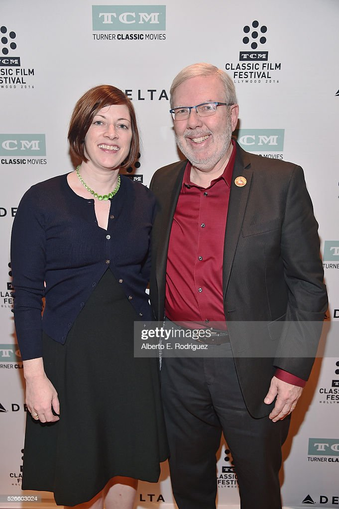 Managing Director of TCM Classic Film Festival Genevieve McGillicuddy (L) and film critic <a gi-track='captionPersonalityLinkClicked' href=/galleries/search?phrase=Leonard+Maltin&family=editorial&specificpeople=208242 ng-click='$event.stopPropagation()'>Leonard Maltin</a> attend 'Intolerance: Love's Struggle Throughout the Ages' screening during day 3 of the TCM Classic Film Festival 2016 on April 30, 2016 in Los Angeles, California. 25826_006
