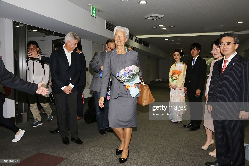 Managing Director of the International Monetary Fund (IMF) Christine Lagarde arrives in Nagoya, Aichi Prefecture, central Japan, 25 May 2016.